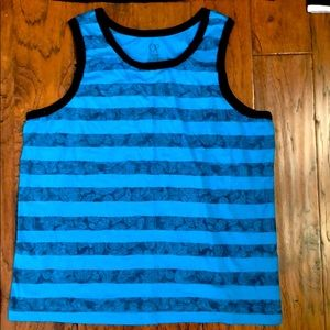 Abercrombie blue and black Tank Top